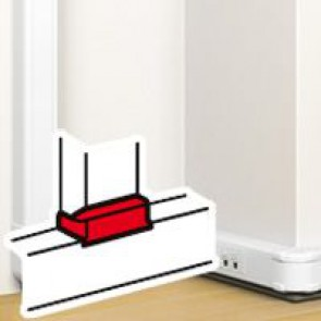 Flat junction - create a junction with flexible cover snap-on DLP trunking 50x80 mm - white