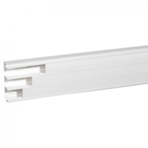Flexible cover snap-on DLP trunking - 3 compartment - 50x180 - with cover 45 mm - 2 m - antimicrobial