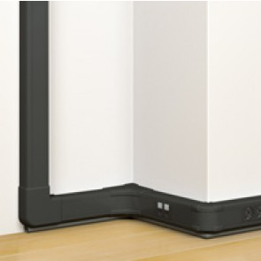 Flexible cover snap-on DLP trunking Black Edition - 50 x 80 mm - 1 compartment