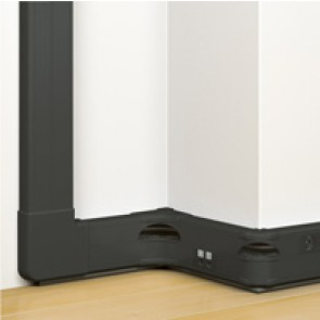 Flexible cover snap-on DLP trunking Black Edition - 50 x 130 mm - 2 compartments
