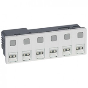 Call unit Mosaic - 6 direction - external power supply - 6 modules - White