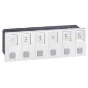 Call unit Mosaic - 6 direction - integrated power supply - 6 modules - White