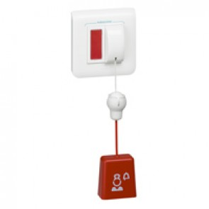 Call unit Mosaic - pull-cord pushbutton and LED indicator - 2 modules - White