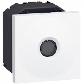 Sensitive switch Mosaic - 10 AX - 2 modules - white antimicrobial