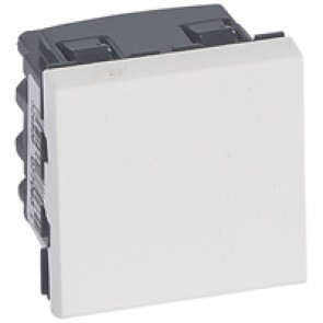 2-way switch Mosaic 20 AX 250 V~ - 2 modules - 2 pole - white