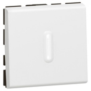 2-way switch Mosaic-with LED indicator-20 AX-250 V~-2 modules-2 pole-white