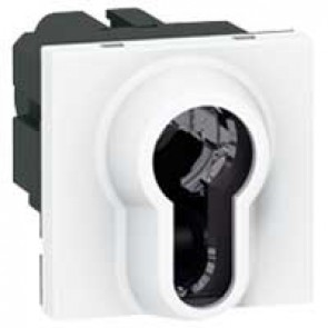 Key switch Mosaic-2-position-to be equipped with european key barrel-2 modules-white