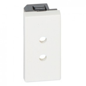 Socket outlet Mosaic - German standard - 2P ELV screw terminal - 1 module antimicrobial