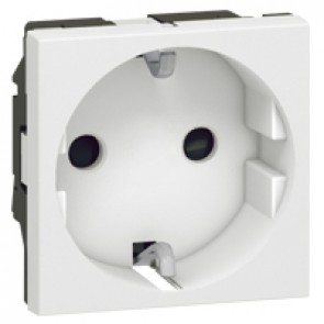 Multi-support single socket Mosaic - German standard - 2P+E automatic terminals - 2 modules