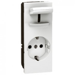 Socket outlet Mosaic - German standard - 2P+E with lever - 5 modules - antimicrobial