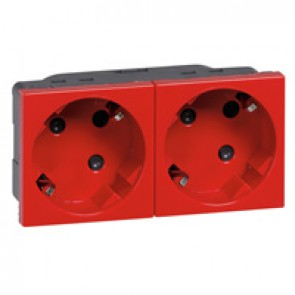 Multi-support multiple socket Mosaic - 2 x 2P+E automatic terminals - tamperproof