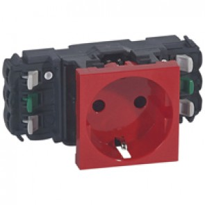 2P+E socket prog Mosaic for DLP trunking - automatic terminals - German standard -red