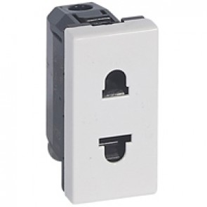 Socket outlet Mosaic - Euro-US - 2P - 1 module - white