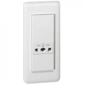 Shaver socket Mosaic - automatic terminals - 5 modules - white
