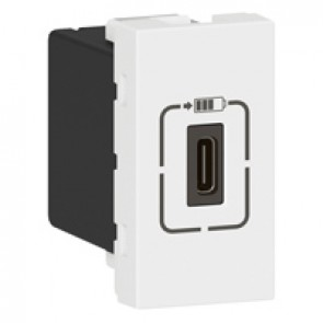 Single USB Type-C charging socket Mosaic - 5 V - 1.5 A - 7.5 W - 1 modules - white