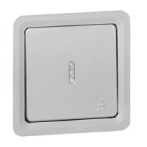 Illuminated 2-way switch Soliroc - 10 AX 250 V~ - IP55