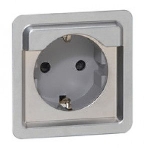 Socket outlet Soliroc - German - 2P + E - screw terminals - no cover - IP20