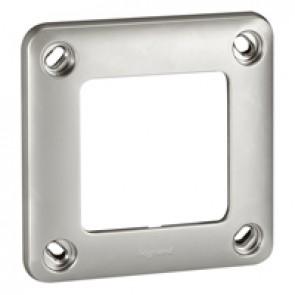 Plate Soliroc - 1 gang - 110 x 110 mm - IK10