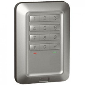 Outdoor backlit coded keypad Soliroc - flush-mounting - IK10-IP55