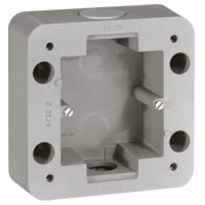 Surface mounting box Soliroc - 1 gang - 110 x 110 x 45 mm
