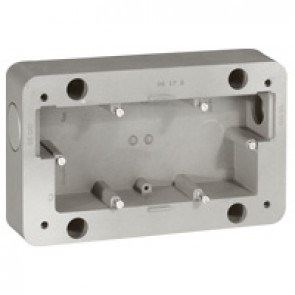 Surface mounting box Soliroc - 2 gang - 110 x 181 x 45 mm