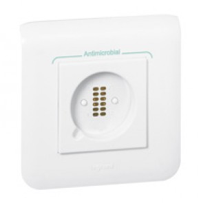 Socket for hand-held remote control unit - magnetic connection