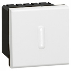 Timer switch Mosaic - 1000 W230 V~ - 2 modules - white