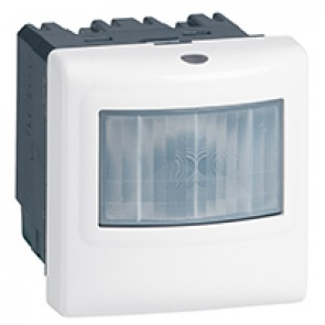 3-wire motion sensor Mosaic - with neutral - IR detection - 400 W- white