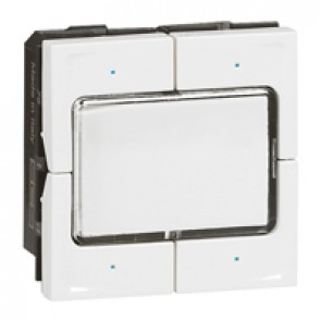 KNX control unit Mosaic - lighting management - 4 push 4 actuation point -white