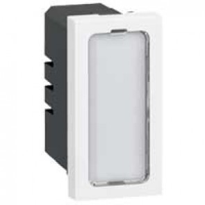 Indicator light Mosaic -with 4 colour labels - single indicator 12/24 V - 1 module - white