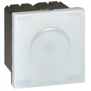 Self-contained pilot light Mosaic - with high power blue LED - 2 modules - white