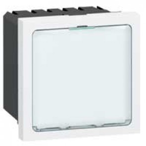 Illuminated signs Mosaic 230 V~ - white LEDs - 2 modules - white