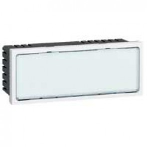 Illuminated signs Mosaic 230 V~ - white LEDs - 5 modules - white