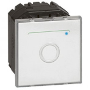 Touch switch Mosaic - with neutral - 2 modules - white antimicrobial