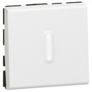 Antibacterial 2-way switch Mosaic - with LED indicator - 10 AX - 2 modules