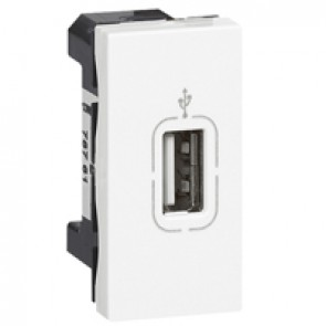 USB socket Mosaic - 1 module - white