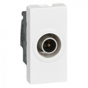 Single TV male socket Mosaic - star 1.5 dB - 1 module - white