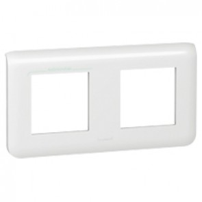 Plate Mosaic - 2 x 2 horizontal modules - white