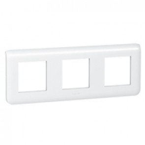 Plate Mosaic - 3 x 2 horizontal modules - white