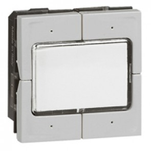 Scenario switch Mosaic - for lighting management - 2 modules - aluminium