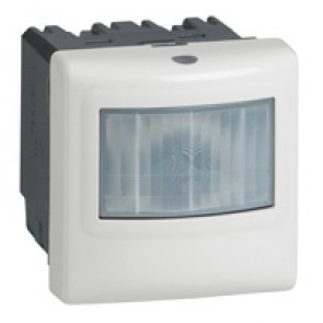 3-wire motion sensor Mosaic - with neutral - IR detection - 2000 W - alu