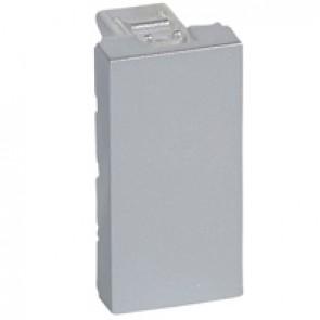 Blanking plate Mosaic - 1 module - aluminium