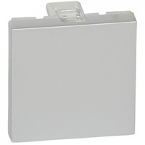 Blanking plate Mosaic - 2 modules - aluminium