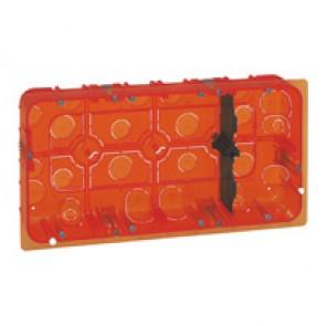 Flush mounting box Batibox - depth 50 mm - 2 x 10 modules - multi-material