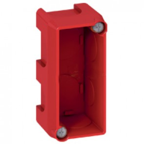 Flush mounting box Batibox - 1 gang for 1 Mosaic modules - masonry
