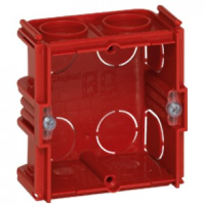 Flush mounting box Batibox - square 1 gang depth 40 mm - masonry