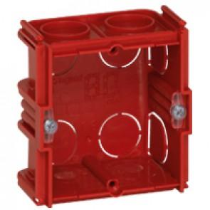Flush mounting box Batibox - square 1 gang depth 40 mm - masonry
