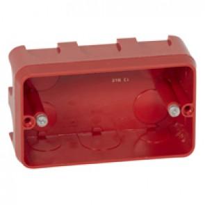 Flush mounting box Batibox - 3 modules Mosaic/Vela - depth 40 mm - masonry