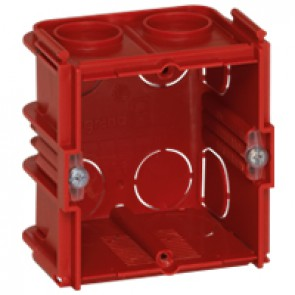 Flush mounting box Batibox - square 1 gang depth 50 mm - masonry