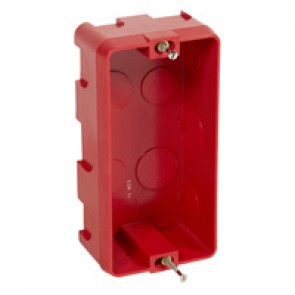 Flush mounting box Batibox - for shaver socket depth 50 mm - masonry